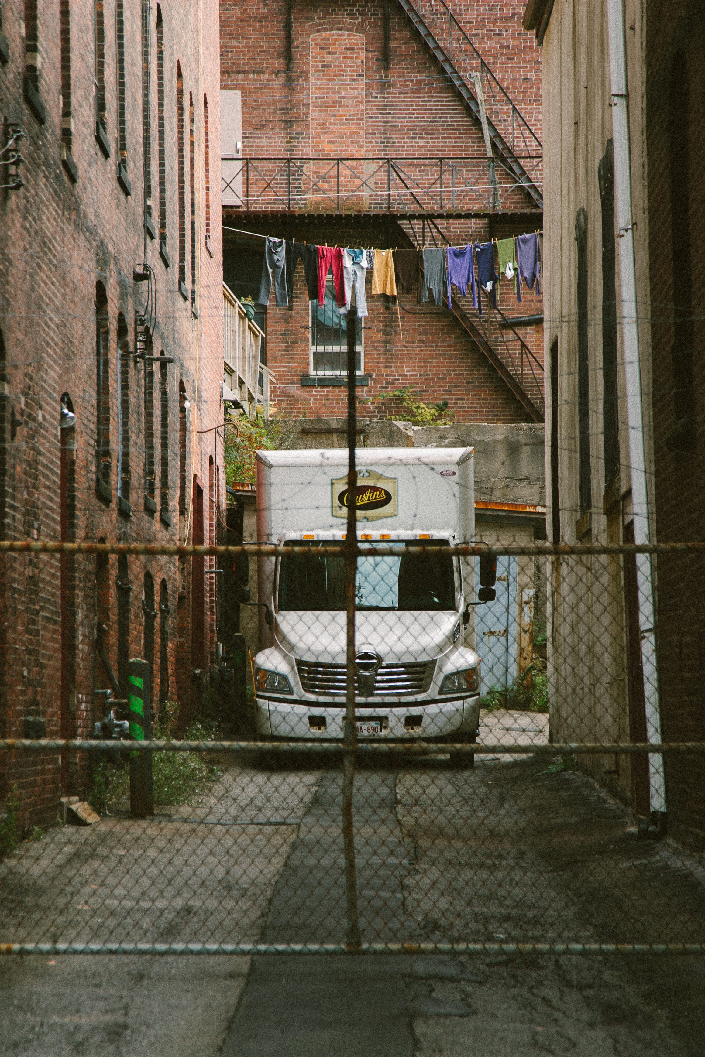 A photograph depicting Old Bustins Alleyway on Grannan Clothes Drying