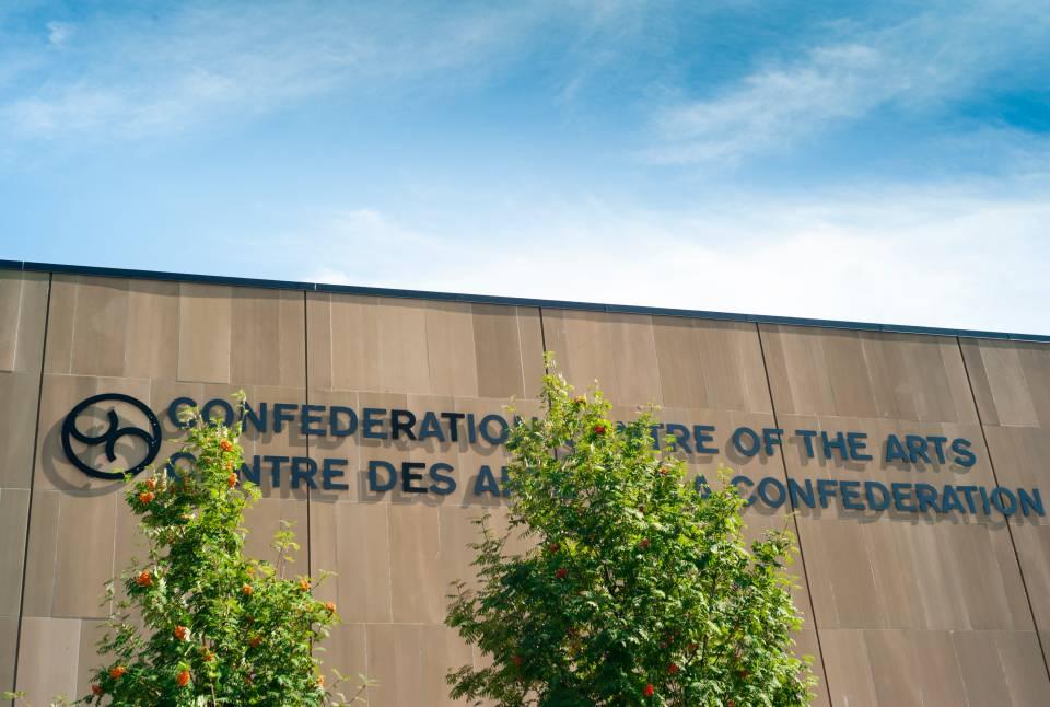 A photo of Prince Edward Island Stock Photo Confederation Centre Of The Arts Sign Stock Photo