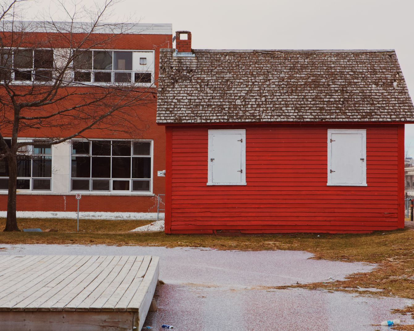 Click thumbnail to see details about photo - Red Barn Bottom of King Street Photograph