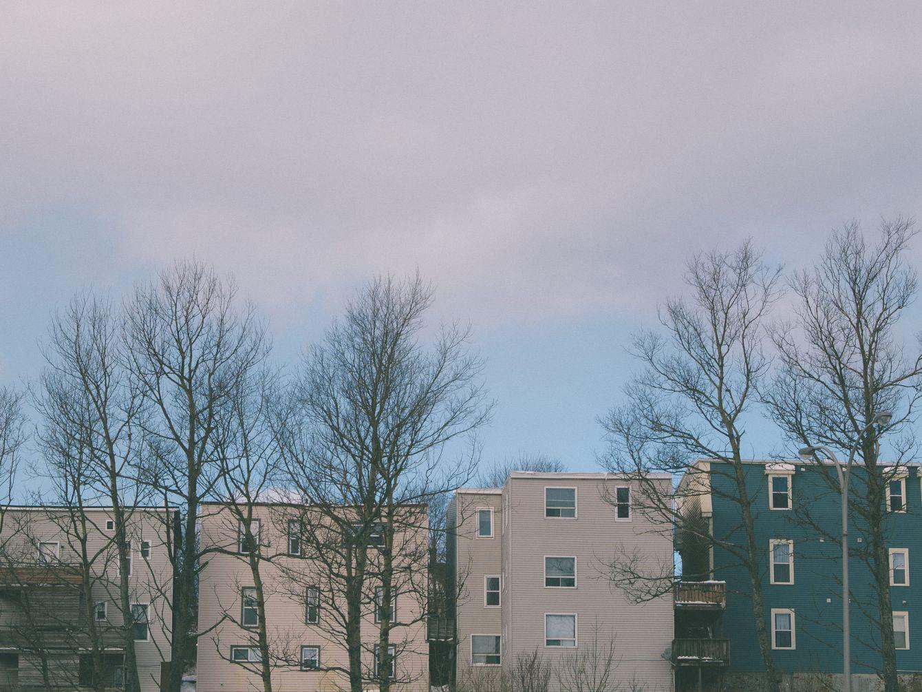 Click thumbnail to see details about photo - Saint John Apartment Buildings Photograph