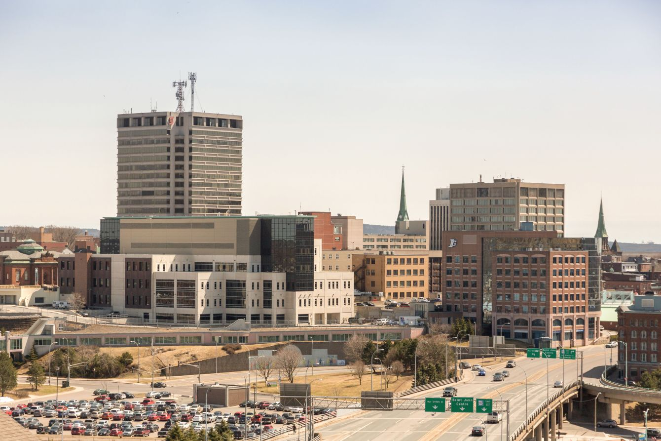 Click thumbnail to see details about photo - Saint John City View from Overpass Photograph