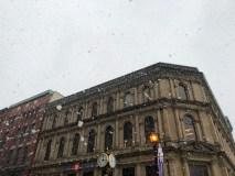 Snow Falling Down on King Street Saint John Photograph