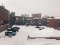 Snowy Parking Lot on Canterbury Street Photograph