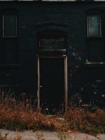 Black House Door Photograph