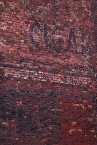 Cigar Ad on Brick Saint John Photograph