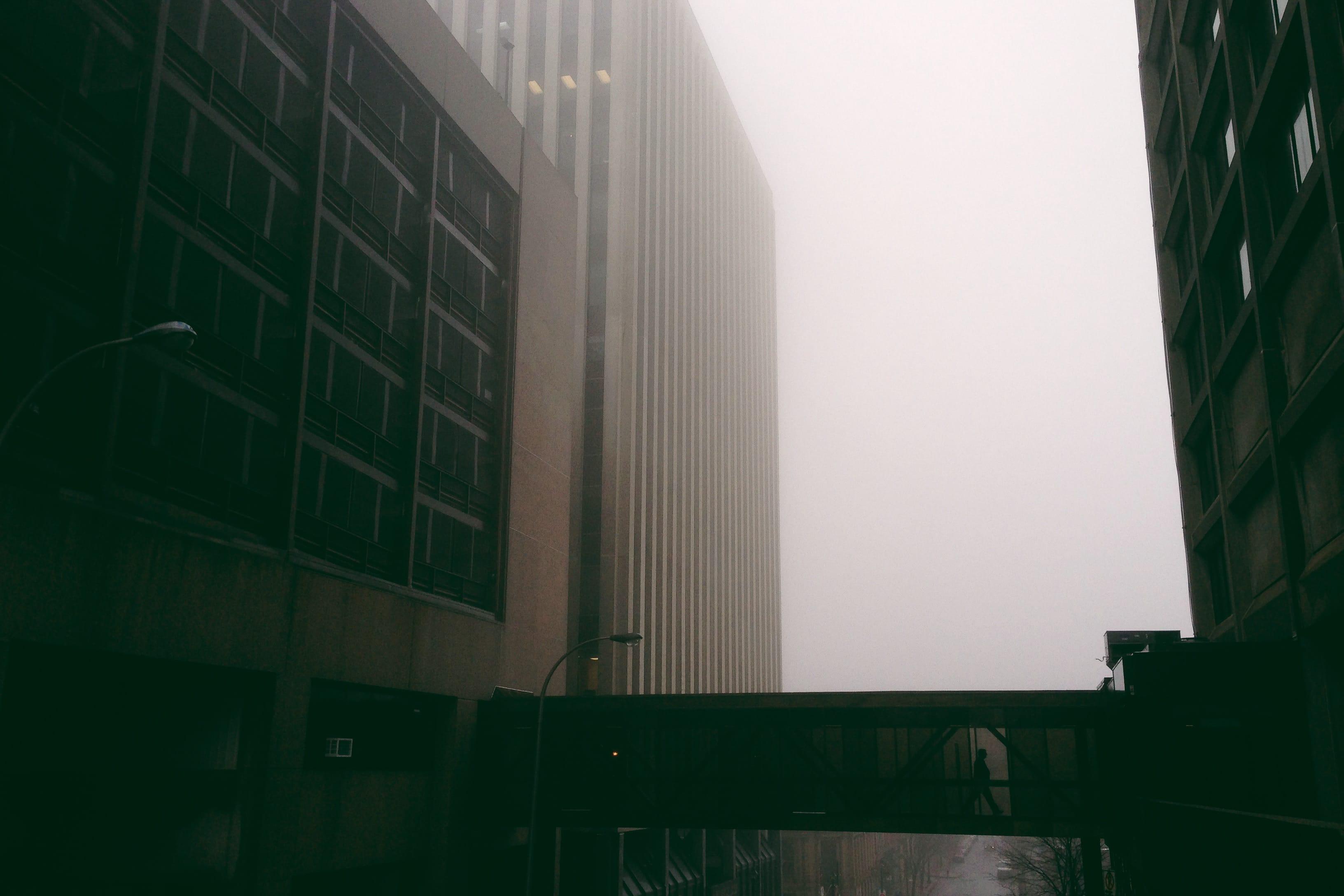 A photograph depicting Foggy Overpass on Chipman Hill Saint John