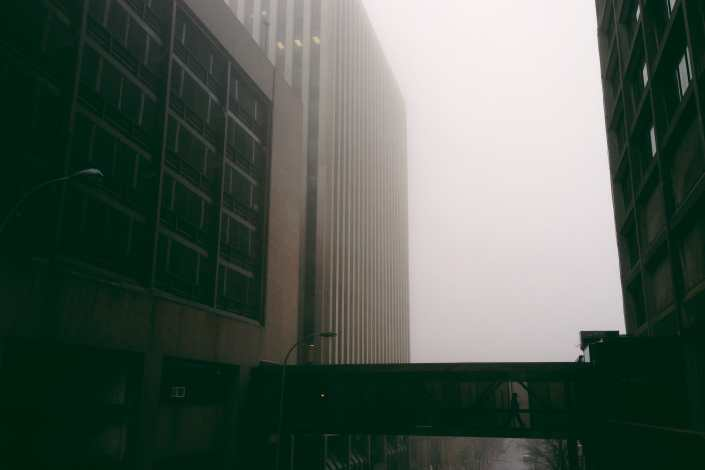Foggy Overpass on Chipman Hill Saint John Photograph