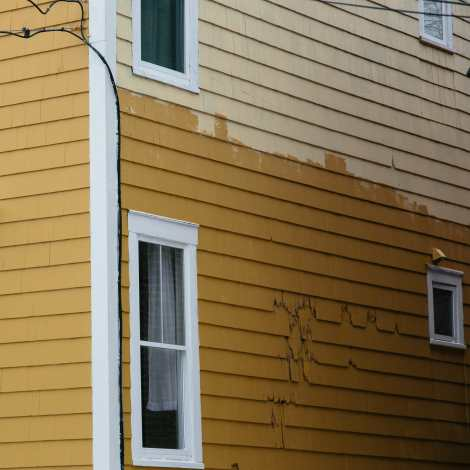 Half Painted Yellow Home Photograph