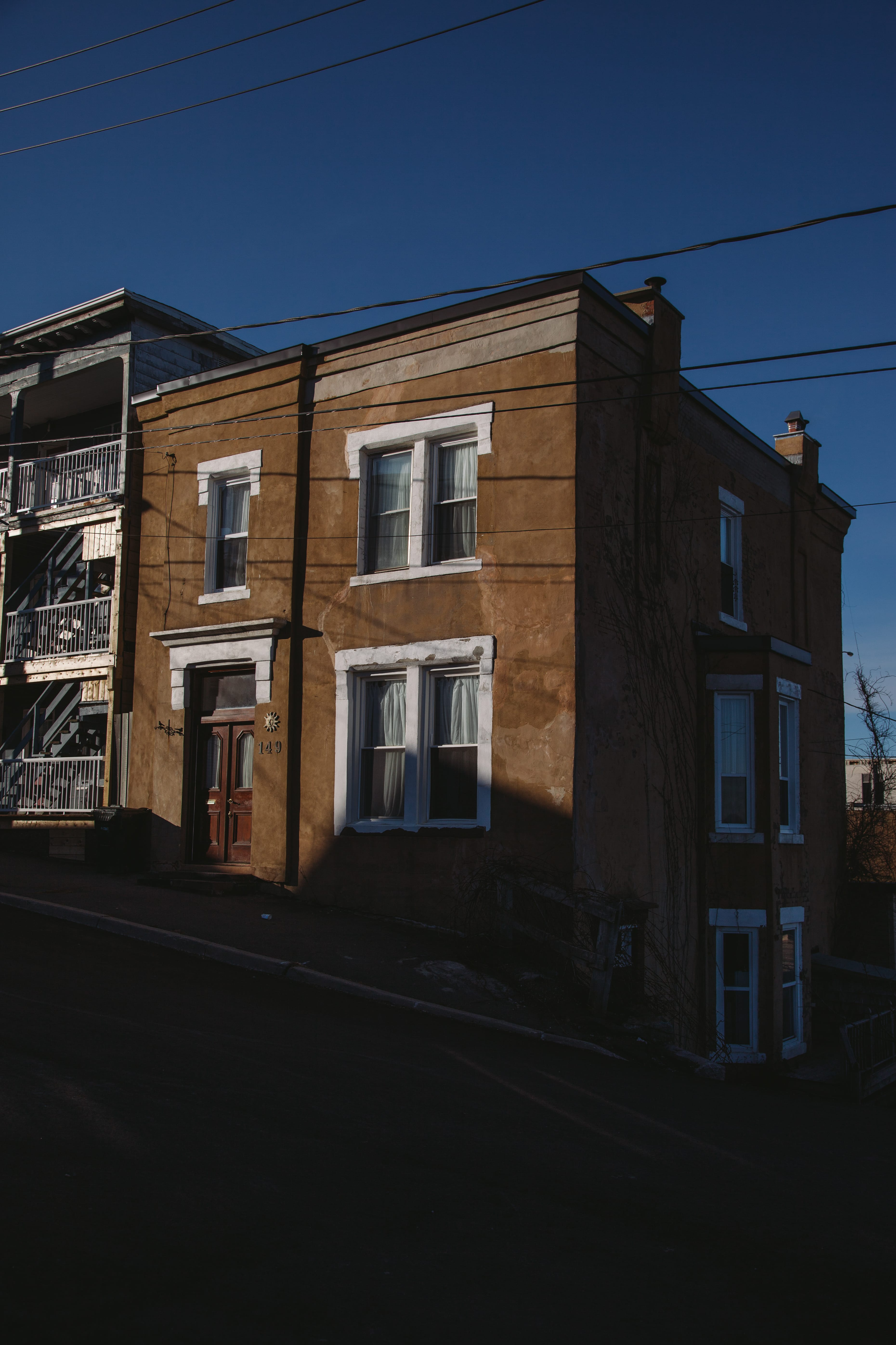 A photograph depicting House at Bottom of Eliott Row