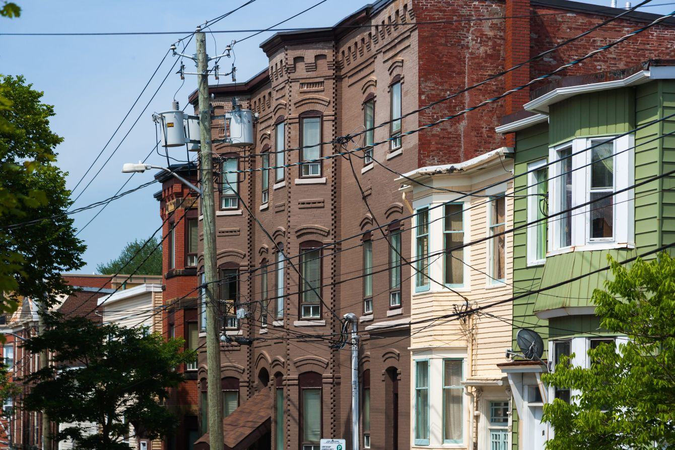 Click thumbnail to see details about photo - Looking Down Duke Street Homes Photograph