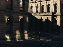 Man Waiting in Shadows on Princess and Germain Photograph