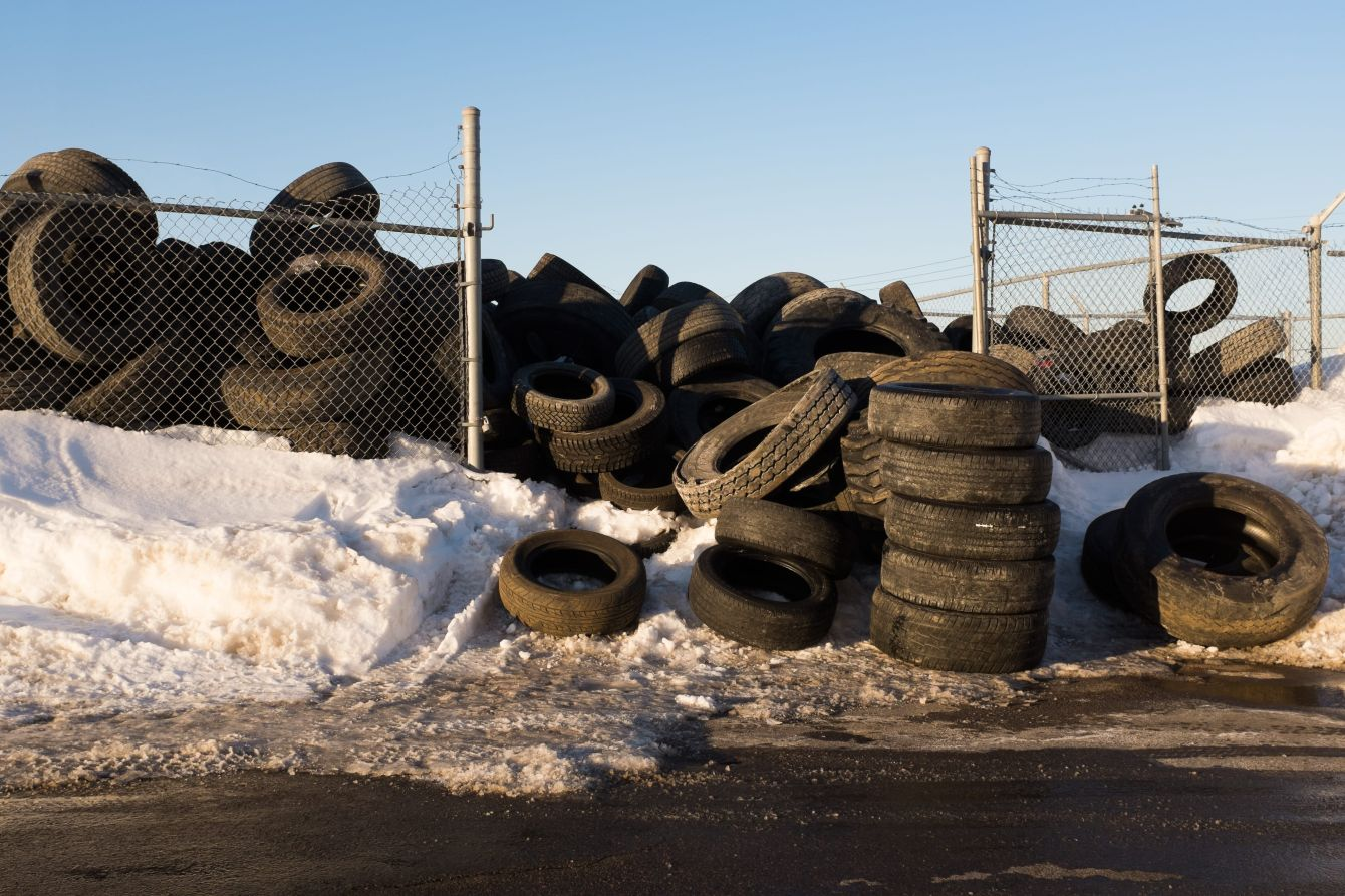 Click thumbnail to see details about photo - Overflowing Tire Pile Saint John Photograph
