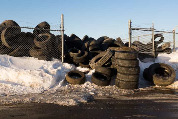 Overflowing Tire Pile Saint John Photograph
