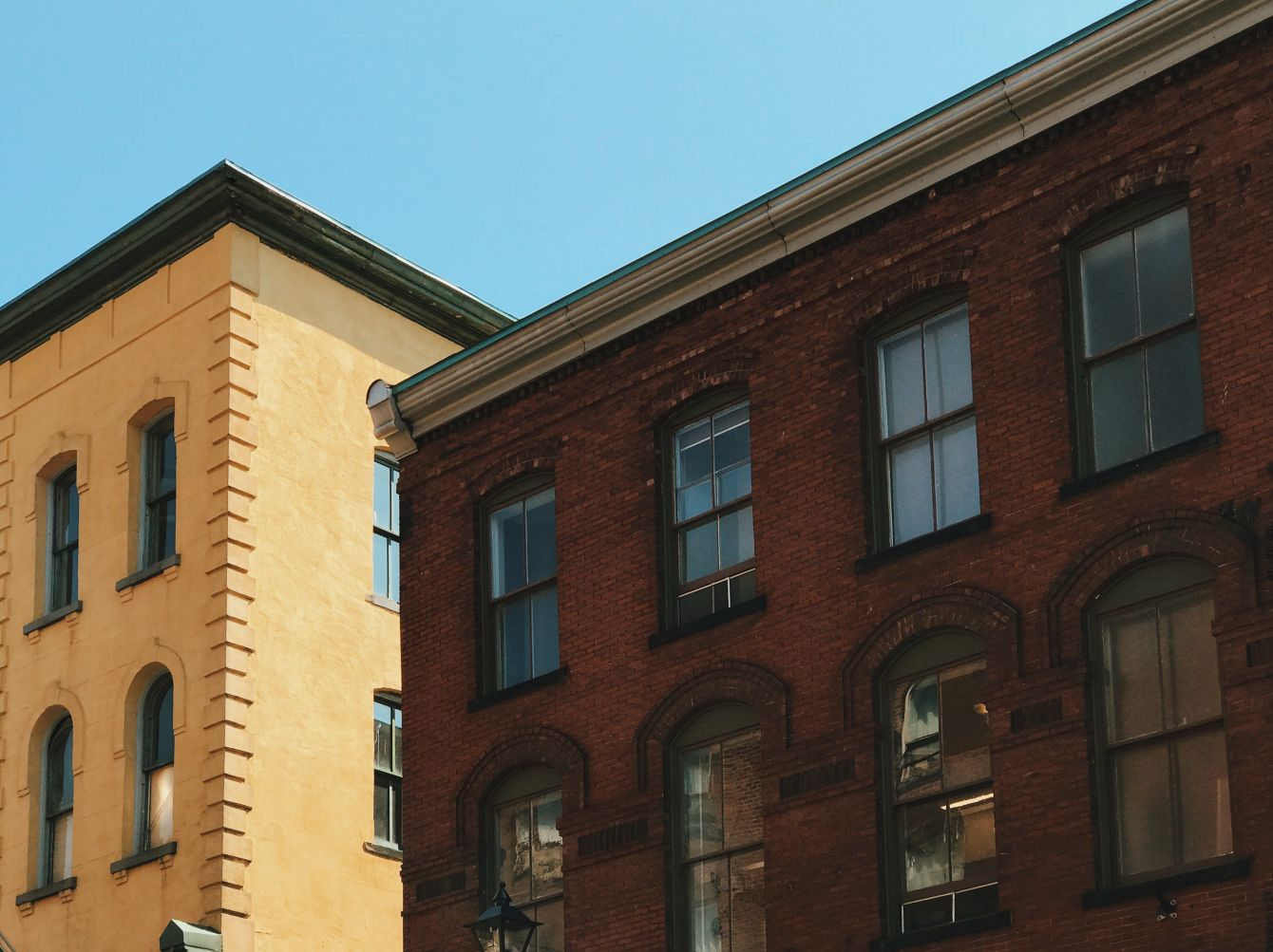 Click thumbnail to see details about photo - Princess Street Buildings Photograph