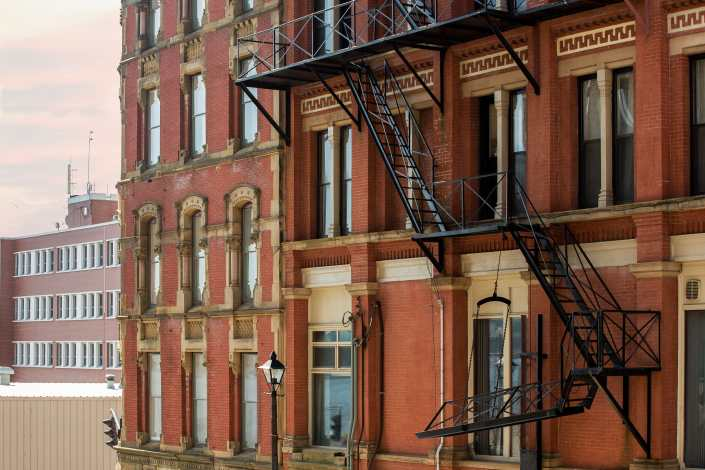 Saint John Prince William Princess Street View Fire Escapes Photograph
