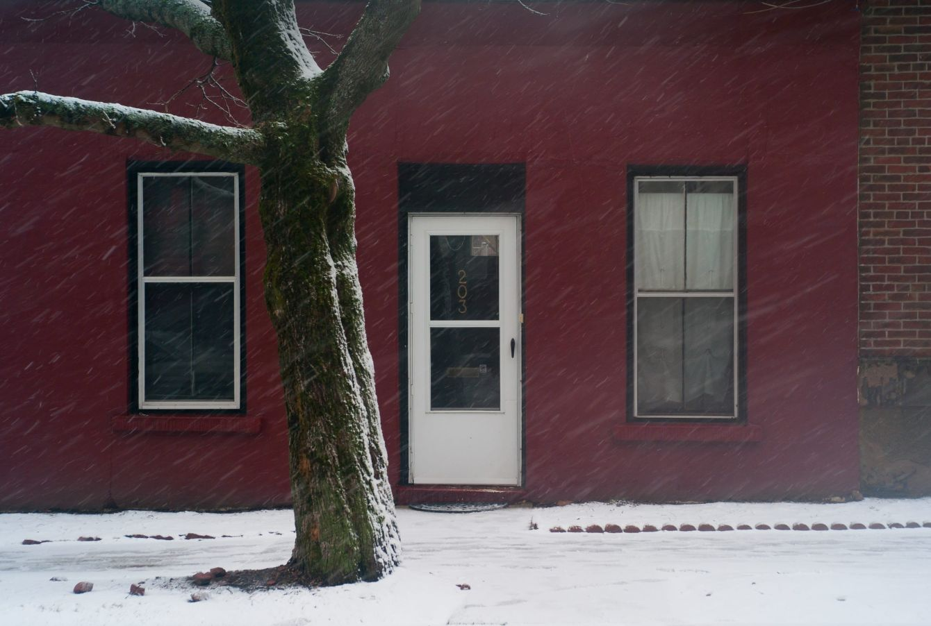 Click thumbnail to see details about photo - Snowing on Germain Street Photograph