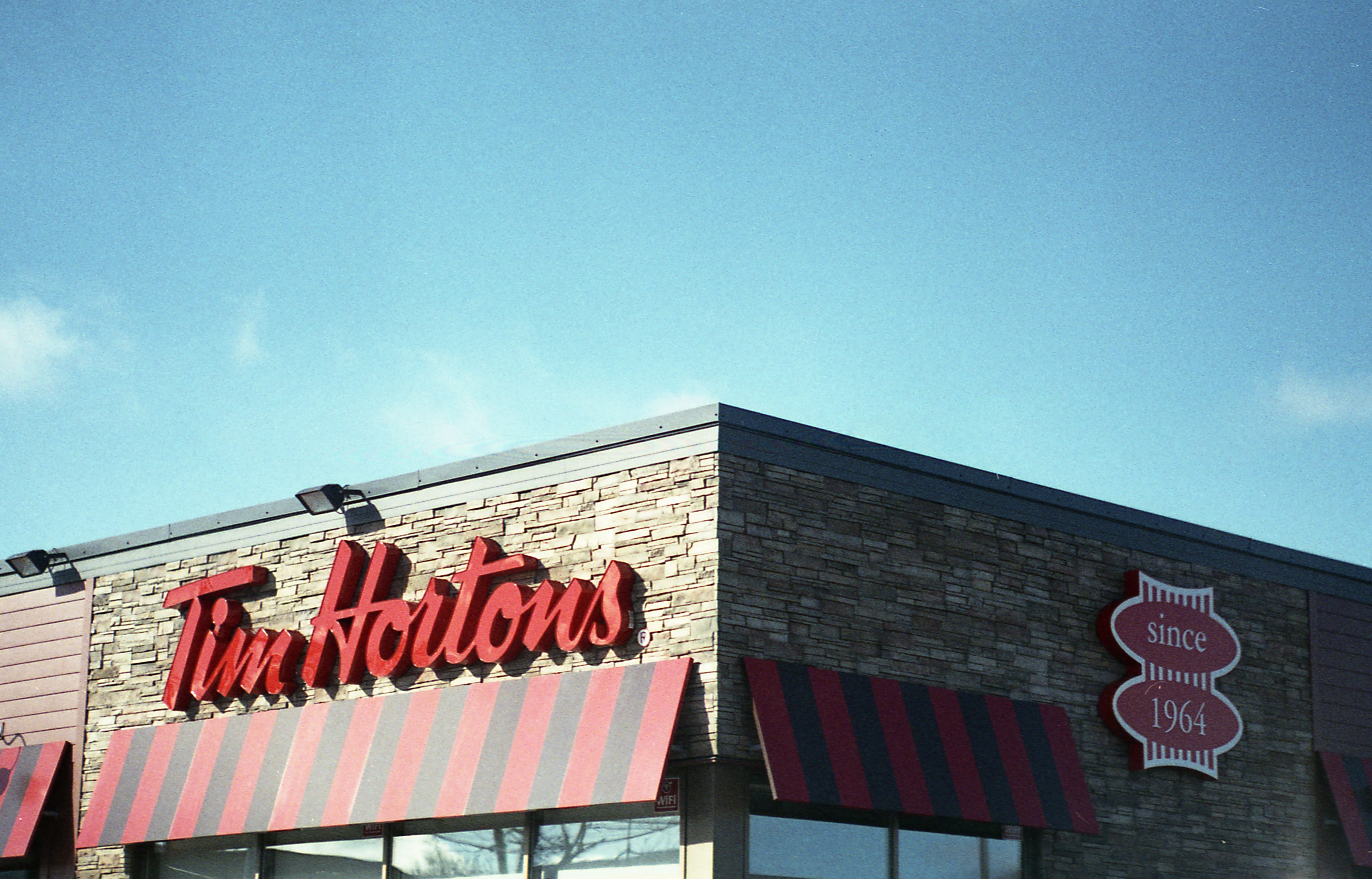 A photograph depicting Tim Hortons West Saint John Shot on 35mm