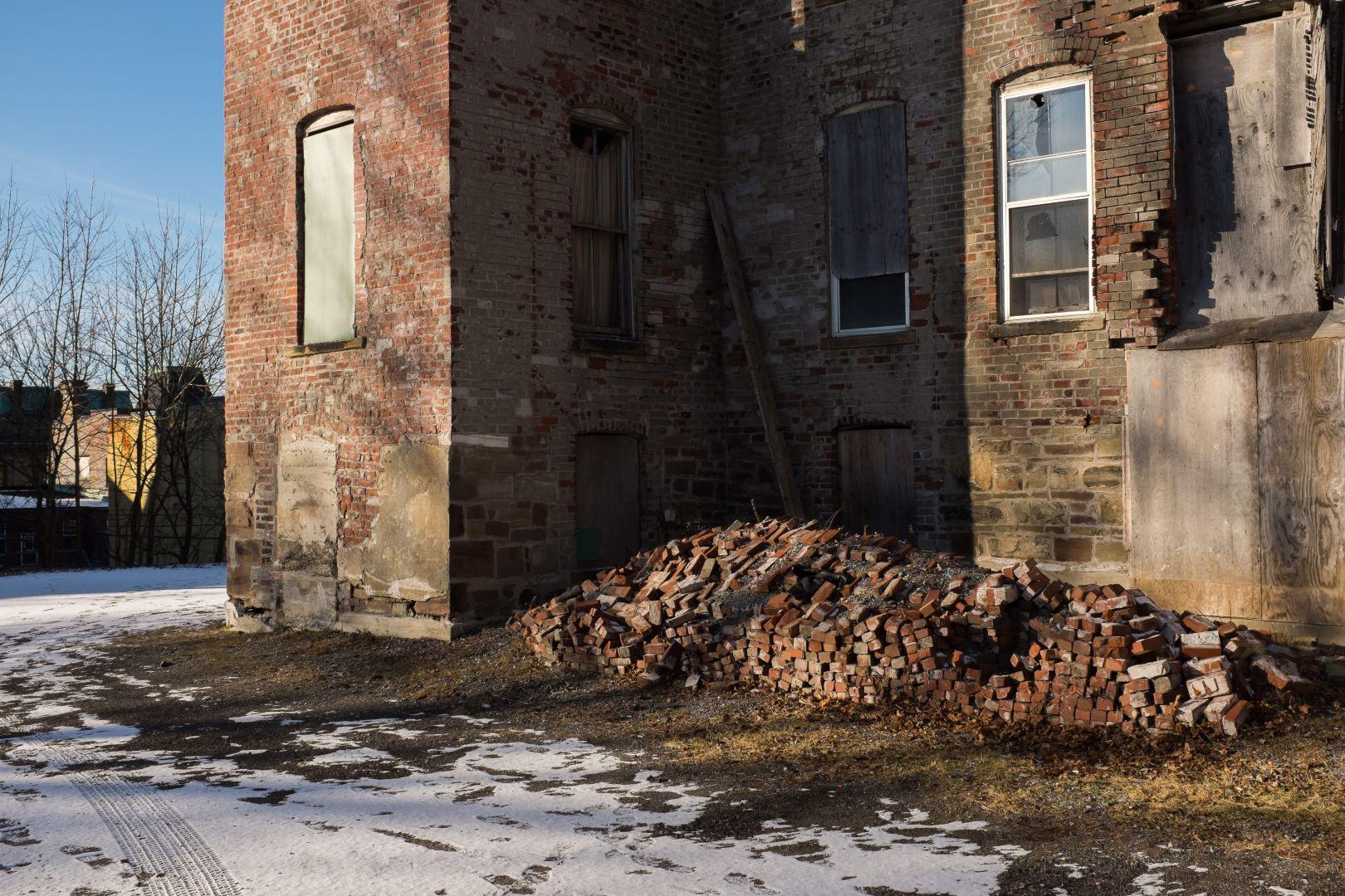 A photo of Pile of Bricks on Germain Street Photograph