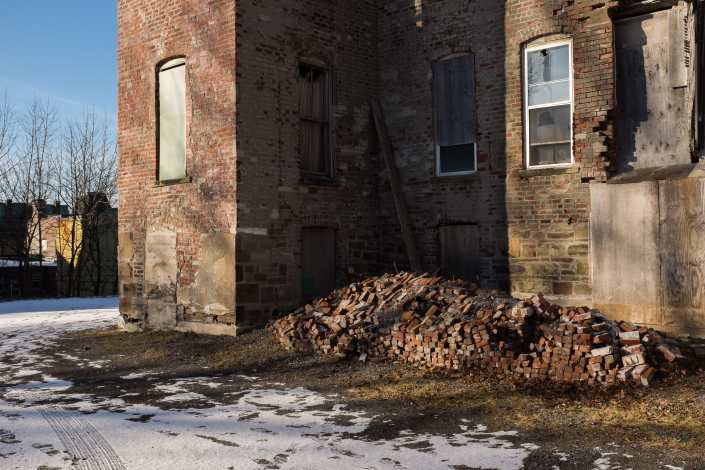 Pile of Bricks on Germain Street Photograph