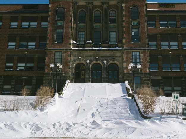 Snowy Steps on Saint John High Photograph