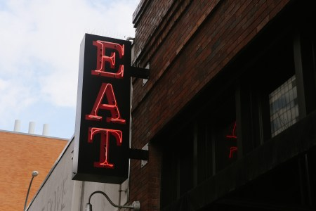 A photo of Austin Texas Eat Neon Sign