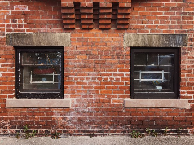Brick Windows On Canterbury Street