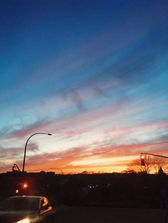 A photo of Looking Down Garden Street Sunset