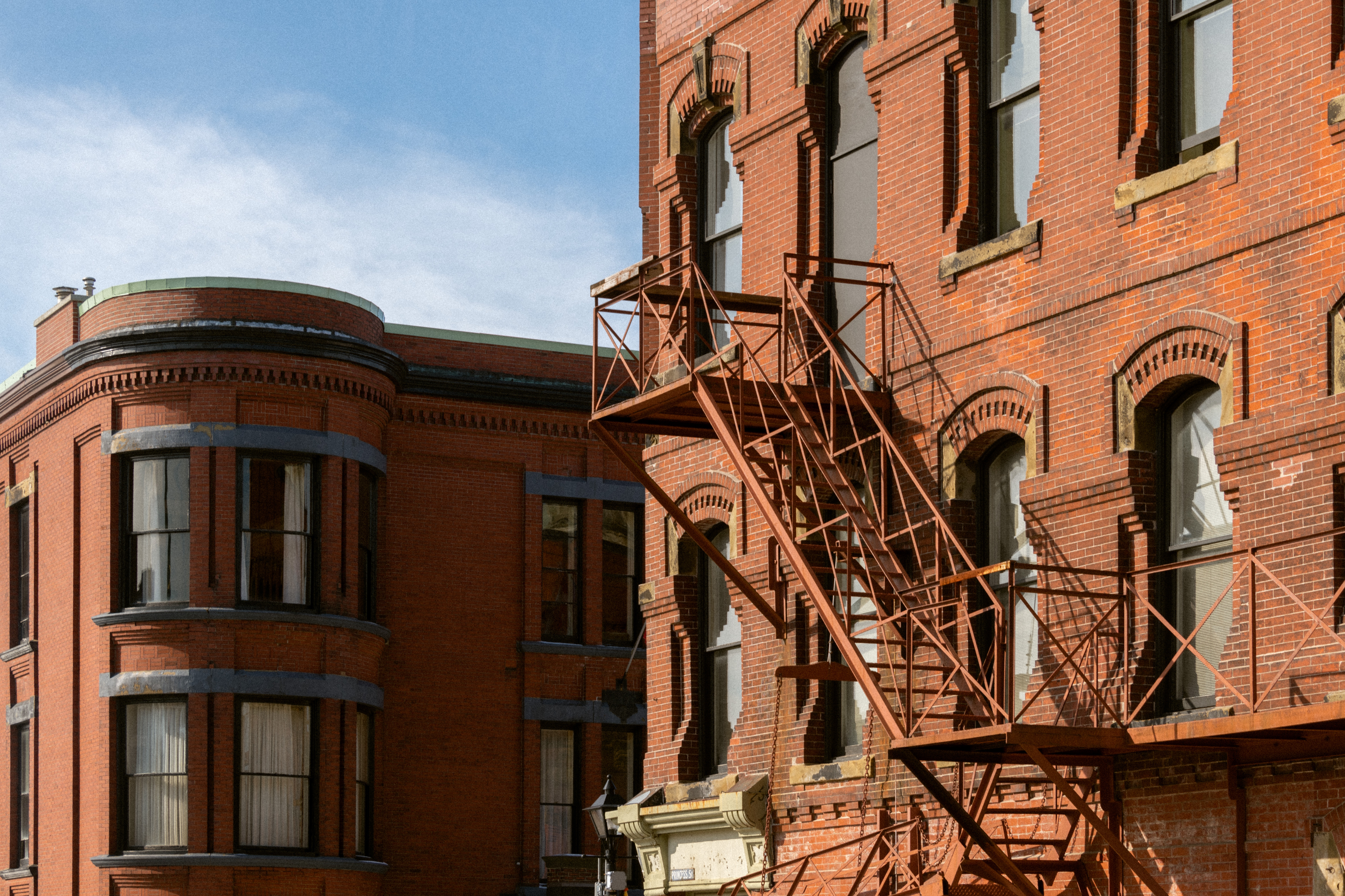 Fire Escape Facade on Princess Street Saint John