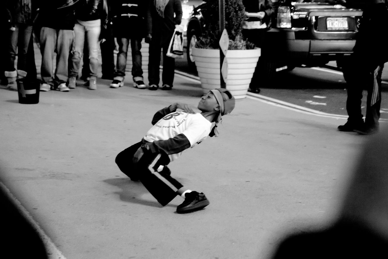 Click thumbnail to see details about photo - New York City Breakdancing Kid