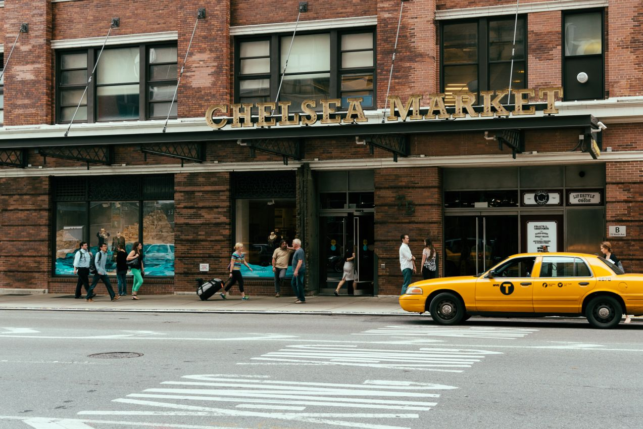 Click thumbnail to see details about photo - New York City Chelsea Market Exterior