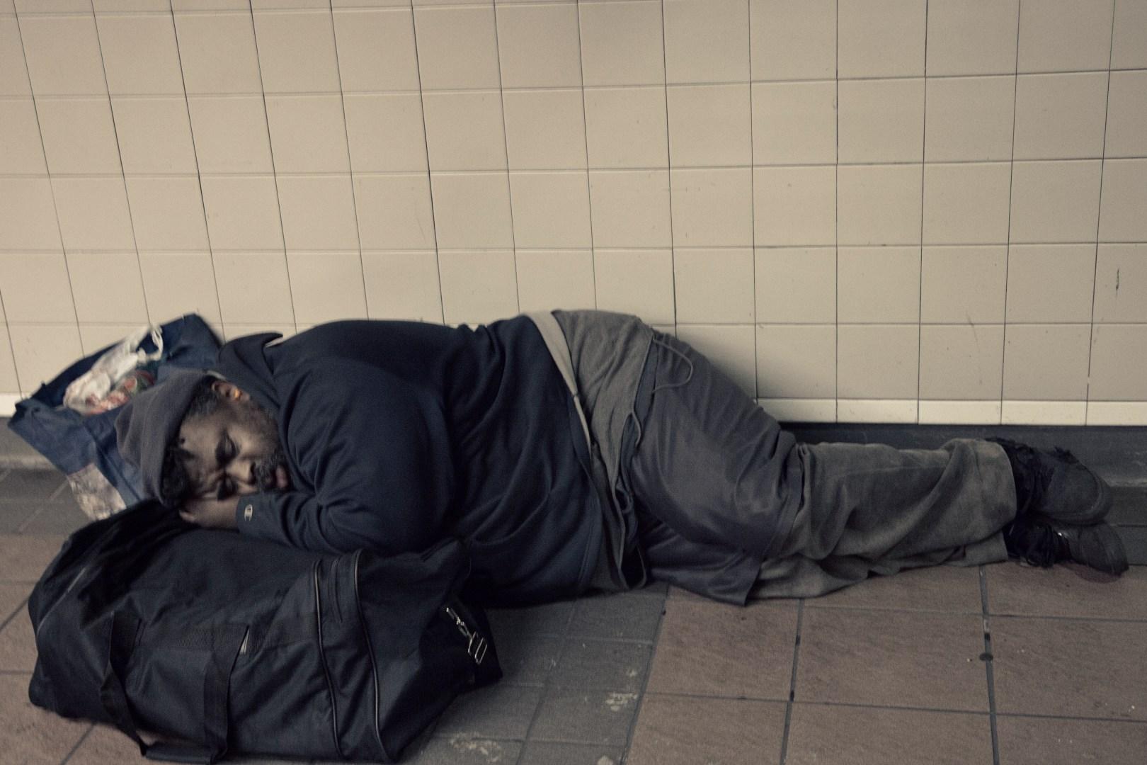 A photo of New York City Subway Sleeper