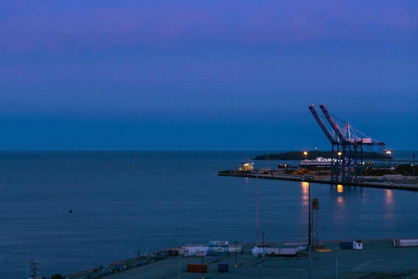 Click thumbnail to see details about photo - Port Saint John At Dusk
