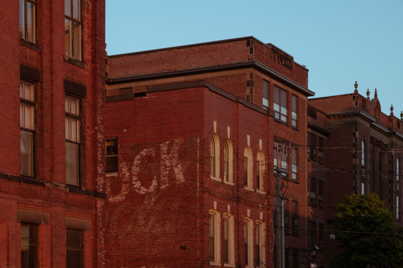 Click thumbnail to see details about photo - Uptown Saint John Brick Facades on Prince William Street