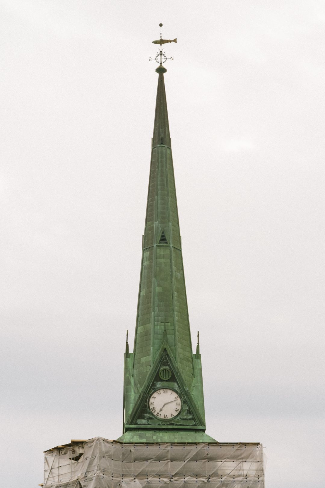 A photo depicting Saint John Church Steeple Renovation
