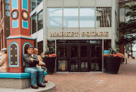 A photo of Entrance To Market Square Wide