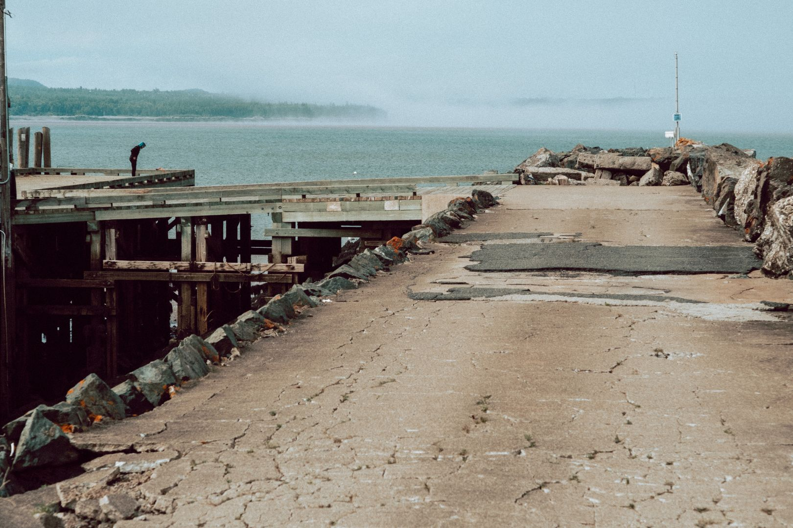 A photo depicting A Fishing Dock on the Outskirts of Saint John