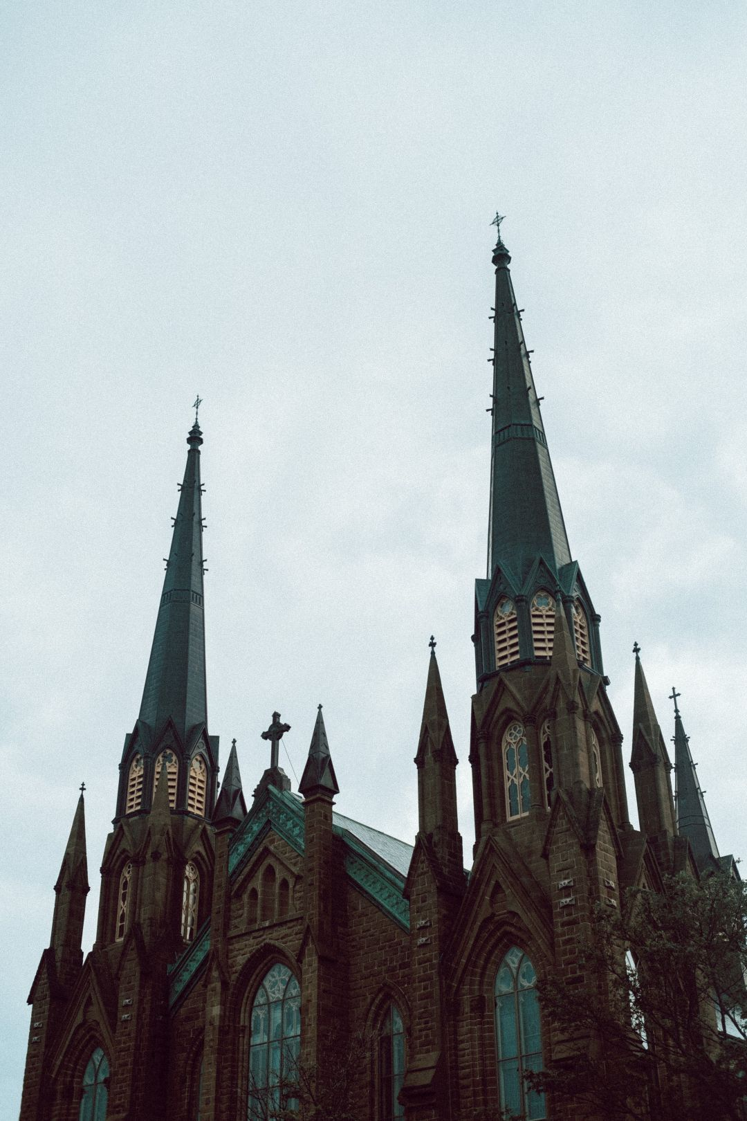 A photo of PEI Cathedral Steeples