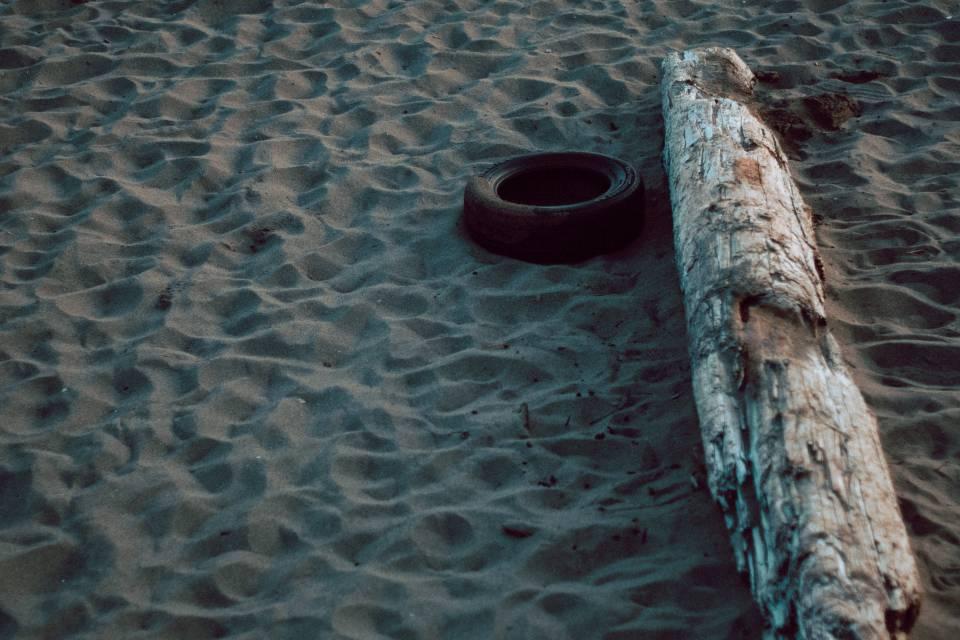 A photo of Tire at Mispec Beach Saint John