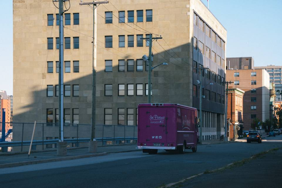 A photo of In Pursuit Truck on Prince William Street