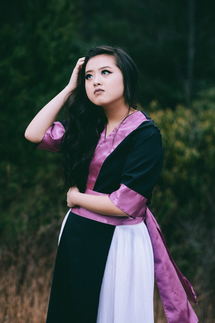 purple hmong dress