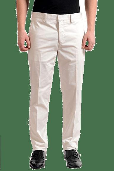 Prada Men's off white suit pants