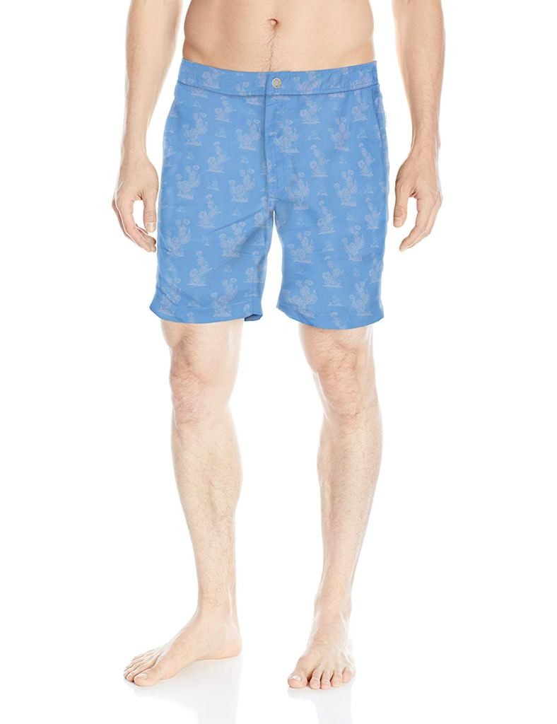 onia Men's Calder Italian Print Swim Trunk