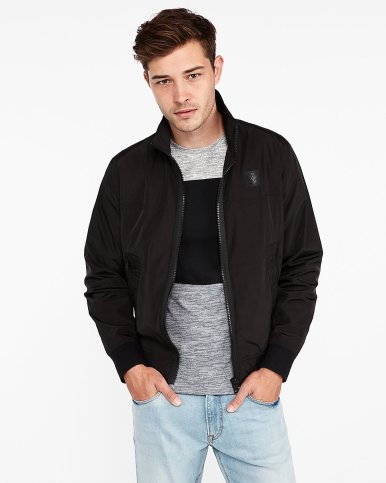 express black nylon bomber jacket