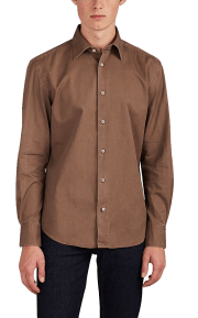 Piattelli cotton twill shirt