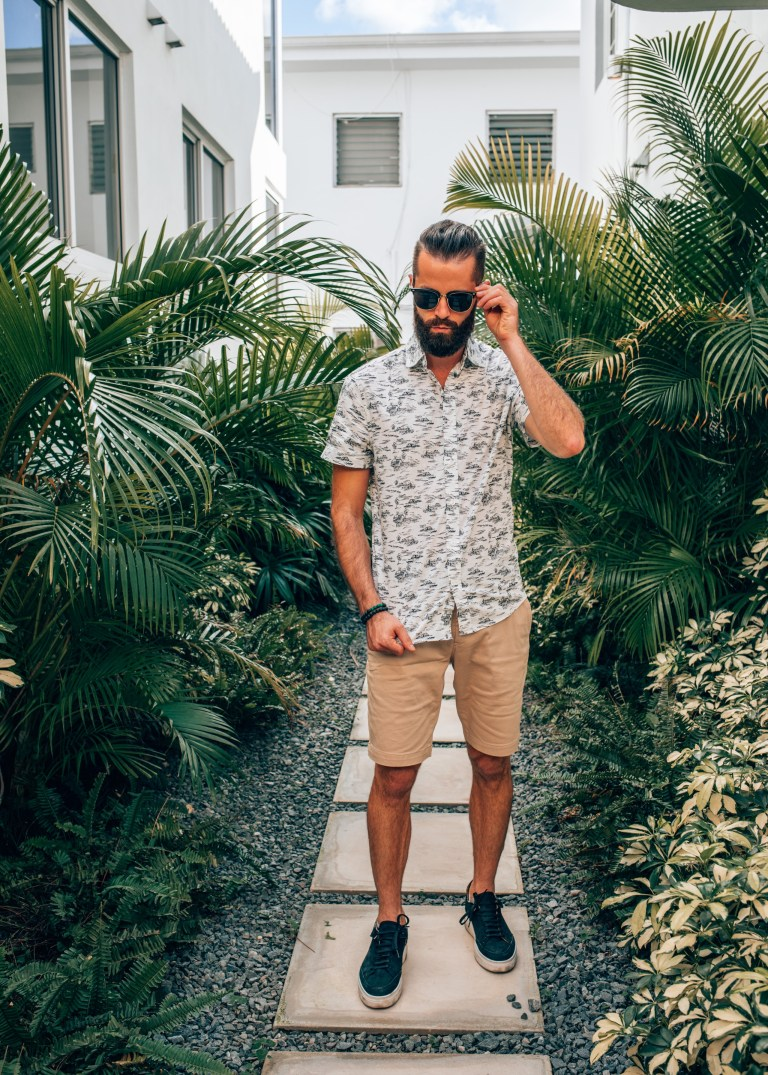 Michael Checkers men's street style blogger collaboration with Express
