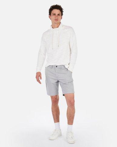 Express Slim 9 Inch Print Stretch+ Shorts