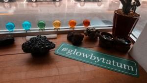 #glowbytatum sign in window of HydraFacial treatment room