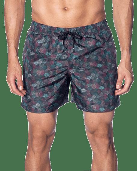 Men's Multicolor Swirl-Print Swim Shorts Jared Lang