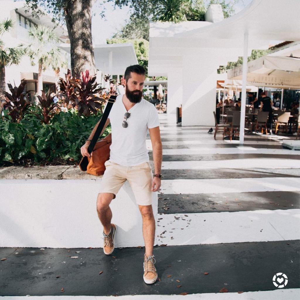 Michael Checkers men's street style Miami Beach
