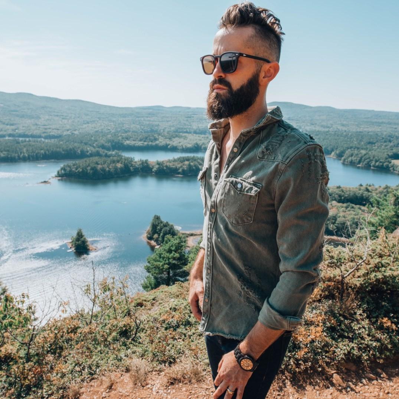 denim shirt with pockets - men's street style trend fall 2018 fashion